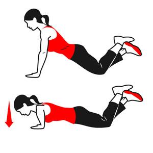 knee-push-ups