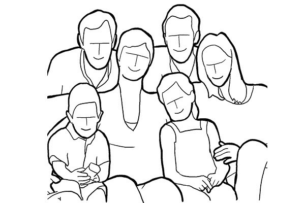 basic pattern for a family photo