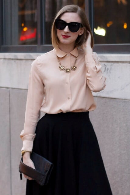 long-silk-skirt-with-a-collared-shirt